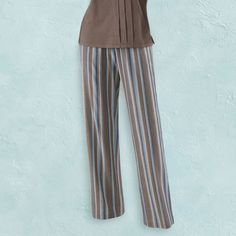 Smoky Topaz Stripe Pants - Casual Women's Clothing and Fashion Accessories - Exclusive Styles in Misses and Womens Plus Sizes | Serengeti