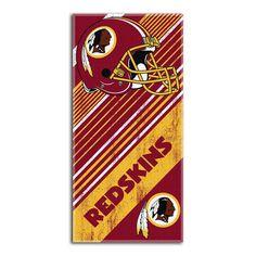 Washington Redskins NFL Fiber Reactive Beach Towel (Diagonal Series) (28in x 58in)