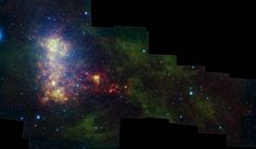 Small Magellanic Cloud from the #Spitzer #SpacePhotography