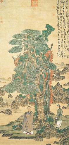 Self-portrait, 1635 Chen Hongshou