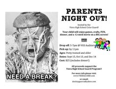 Parents Night Out Fundraiser!OMI Parents have Bingo night or whatever in REG Hall while CAB baby sits