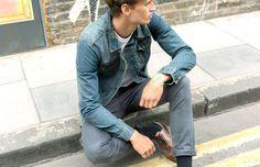 how to wear a denim jacket mens street style