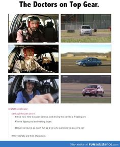 If The Tardis Was A Car, How Would The Doctor Drive It? Well, there's your answer XD