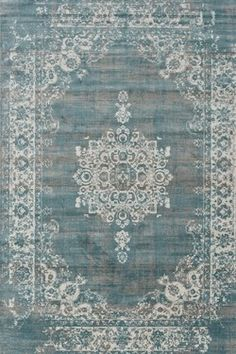 Home Living by PD - Vloerkleed - Classic - cm - Grijs/Blauw. Fur Carpet, White Carpet, Patterned Carpet, Rugs On Carpet, Plush Carpet, Blue Green Bedrooms, Blue Gray Bedroom, Blue Rooms, Bedroom Turquoise