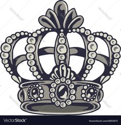 Crown vector image on VectorStock Crown Tattoos For Women, Couples Ring Tattoos, Couple Tattoos, Flower Tattoos, Hand Tattoos, Small Tattoos, Sleeve Tattoos, Bold Jewelry, Ear Jewelry