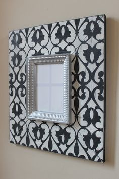 Imperial Wood Distressed Picture Frame Hand painted, Black and Vintage White. Handmade Picture Frames, Distressed Picture Frames, Handmade Frames, Frame Crafts, Diy Frame, Wood Crafts, Diy Wall Art, Wall Decor, Ikea Mirror