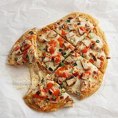 Buffalo Chicken Flatbread TheHopelessHousewife.com #pizza #dinner #recipe
