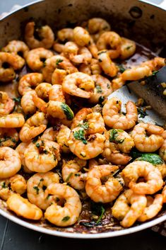 Dinner has never been easier! This slightly spicy and madly flavorful garlic cilantro shrimp comes together in minutes. Get the recipe: Garlic Cilantro Shrimp Shrimp Recipes Easy, Seafood Recipes, Vegetarian Recipes, Dinner Recipes, Cooking Recipes, Healthy Recipes, Dinner Ideas, Keto Recipes, Seafood Pasta