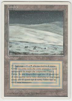 ***1x Tundra*** MTG Revised Dual Land Italian -Kid Icarus- Dual Lands, Kid Icarus, Magic Cards, Magic The Gathering, Mtg
