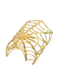 Bernard+Delettrez+Giant+Spiderweb+Bronze+Cuff+Bracelet