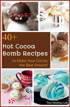 Hot Chocolate Gifts, Homemade Hot Chocolate, Hot Chocolate Bars, Hot Chocolate Mix, Hot Chocolate Recipes, Xmas Food, Christmas Baking, Hot Cocoa Recipe, Bombe Recipe