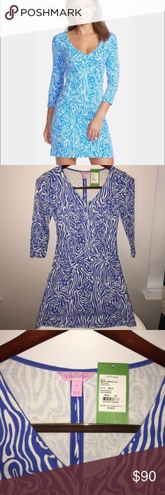 Lilly Pulitzer Clarke Dress XS Night Swimming Great condition! Worn 1x and washed. Still have tag I can send with it. Lilly Pulitzer Dresses