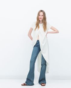 TOP WITH LONG BACK-View all-Tops-WOMAN-SALE   ZARA United States