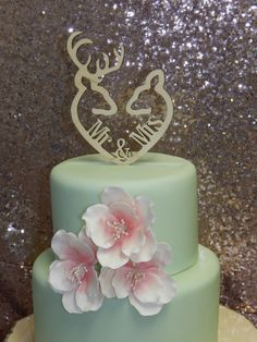 Buck and Doe Heart Collection Mr & Mrs Buck Cake Topper Outdoor Wedding Country by SpectacularEvents, $50.00