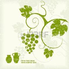 feuille de vignes: Le fond de vigne