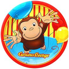 Curious George Party Hats #YoYoBirthday