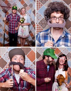 Set up a photo booth area at the wedding shower. Get ??? to take photos. Have some props and frames, and a backdrop.