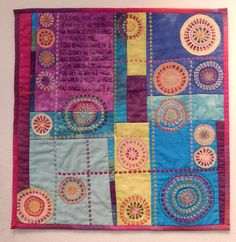Embroidery on quilt