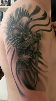 tyrael tattoo done by walter velazquez tattoos ink videogametattoo gamertattoo gamerink. Black Bedroom Furniture Sets. Home Design Ideas