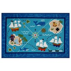 Kohl's Pirate bathroom rug