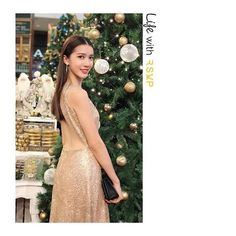 """29 Likes, 1 Comments - RSVP Clothing (@rsvpclothing_) on Instagram: """"Life with RSVP  Serene Lim 林宣妤  @serene_lsy  The Miss Astro 2016 is wearing our gold dress. Time…"""""""