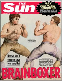 1789: The art of boxing develops, and The Sun tips a nod to our BrainBox range!