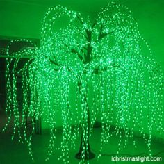 Lighted willow tree for restaurant decoration