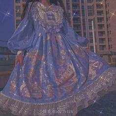 Kawaii Dress, Kawaii Clothes, Retro Outfits, Cute Casual Outfits, Aesthetic Fashion, Aesthetic Clothes, Pretty Dresses, Beautiful Dresses, Fairytale Dress