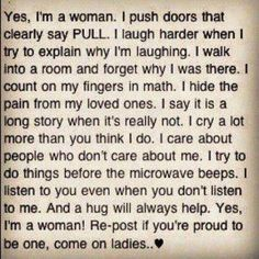 Yes, I'm a Woman