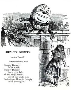 Alice in Wonderland Humpty Dumpty - John Tenniel illustration