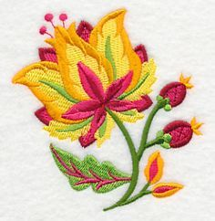 Jacobean Blazing Blooms design (M5996) from www.Emblibrary.com