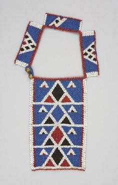 Necklace Local Name:ulimi Place Made:Africa: Southern Africa, South Africa People:Zulu Period:Late 19th to early 20th century Date:1870 - 1929 Dimensions:L 21.75 cm x W 15.5 cm