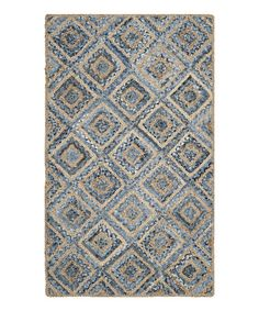 Another great find on #zulily! Natural & Blue Strafford Jute Rug #zulilyfinds