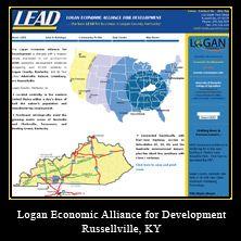 My Web Design Clients: Logan Economic Alliance for Development. Russellville, Kentucky.