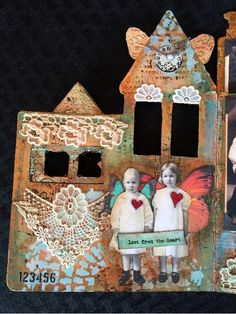 CREATIVITY IS CONTAGIOUS: VINTAGE MIXED MEDIA ALTERED CHILDREN'S BOOK