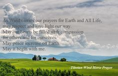 Tibetan Wind Horse Prayer