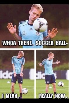 Woah there soccer ball