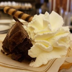 Chocolate truffle in Rome...with whipped cream.   #food www.localaromas.com