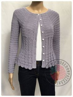 The Kamila Fitted Cardigan Crochet Pattern from Hooked On Patterns. Crochet this beautiful cardigan...
