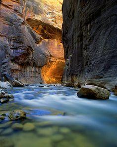 The Virgin River Narrows, Utah Mural - Steve Mohlenkamp| Murals Your Way