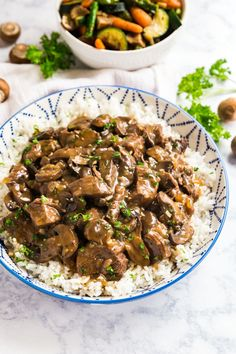 Making Beef Tips just got even easier when made in your crockpot or instant pot for fall-apart-tender and juicy steak tips with a brown gravy! Beef Tips And Rice, Steak And Rice, Beef Tip Recipes, Crockpot Recipes, Healthy Recipes, Sirloin Tip Steak, Steak Tips, Beef Tips Slow Cooker, White Rice Recipes