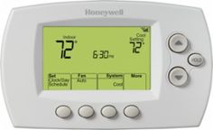Honeywell - 7-Day Programmable Thermostat with Wi-Fi Capability - White - Front Zoom