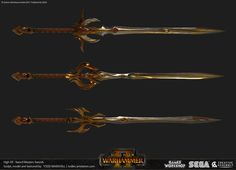 Sword Master of Hoeth Swords, Todd Marshall Fantasy Sword, Fantasy Armor, Fantasy Weapons, Anime Weapons, Weapons Guns, Sword Design, High Elf, Arm Armor, Warhammer Fantasy