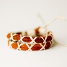 diy leather bracelets!