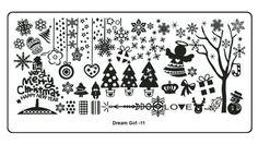 Aliexpress.com: Comprar 1 x acero inoxidable de la flor de la nieve de navidad estilo del arte del clavo del clavo placas estampación Nail Art imagen sello polaco Stencil DIY DG11 de la plantilla del tatuaje fiable proveedores en Sara Nail Art Products Wholesale