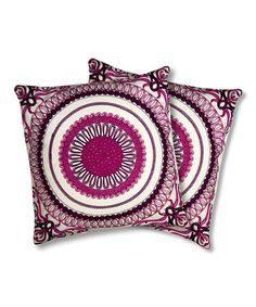Take a look at this Fuchsia Geovany Throw Pillow - Set of Two by Lush Décor on #zulily today!