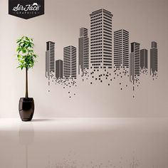 Urban Wall Decal Office Wall Decal Wall by SirFaceGraphics, £37.00