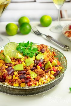 Cobb Salad, Chili, Grains, Lunch, Food, Meal, Chile, Chilis, Lunches
