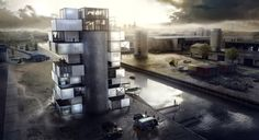 Gallery of 'BS25' Silos - Diving and Indoor Skydiving Center Proposal / Moko Architects - 2