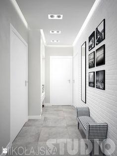 czarno -biały korytarz - zdjęcie od MIKOŁAJSKAstudio - Hol / Przedpokój - Styl Art- deco - MIKOŁAJSKAstudio